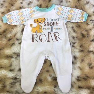 Disney Simba Lion King Footsie Pajama